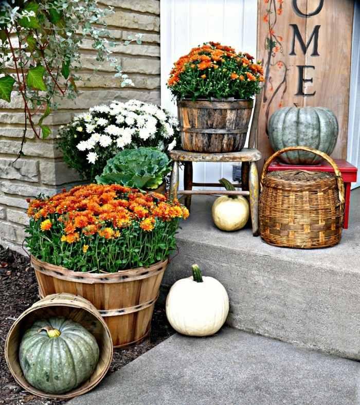 decoracion porche otono puerta opciones elementos otono ideas