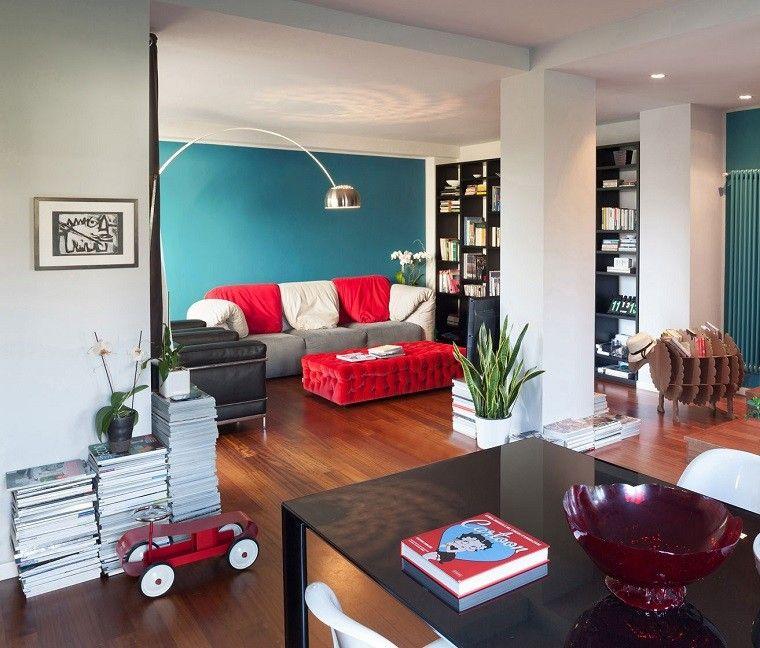 decoracion salon precioso otimana roja ideas