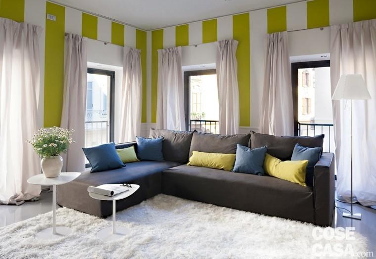 decoracion salon precioso pared rayas ideas
