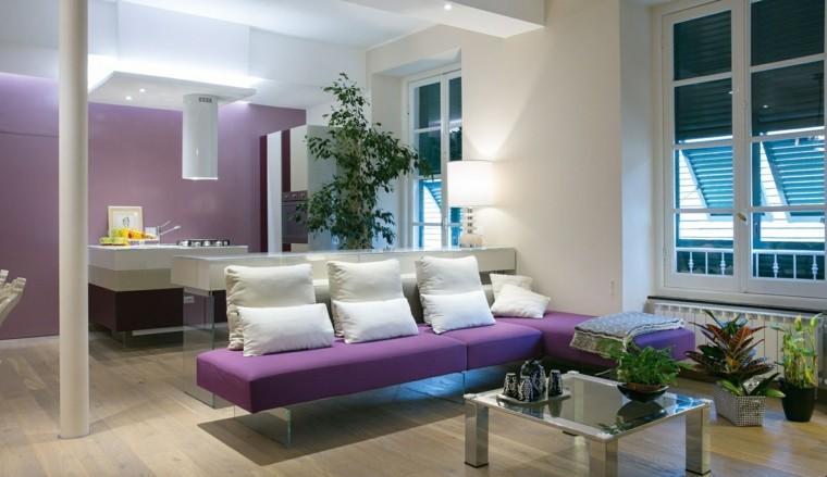 decoracion salon precioso plantas cristal ideas