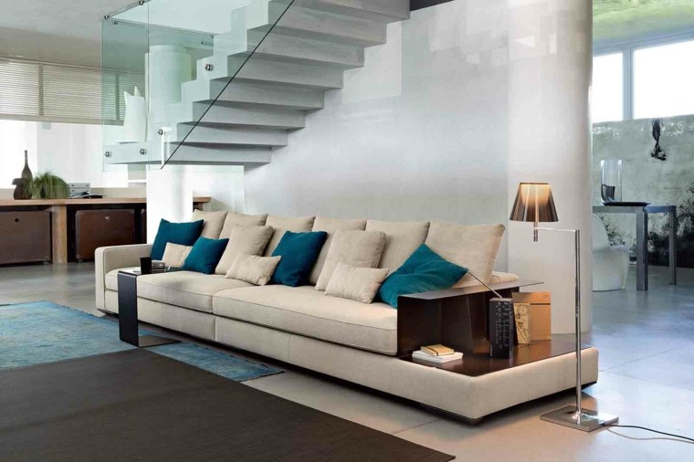 decoracion salon precioso sofa lampara ideas