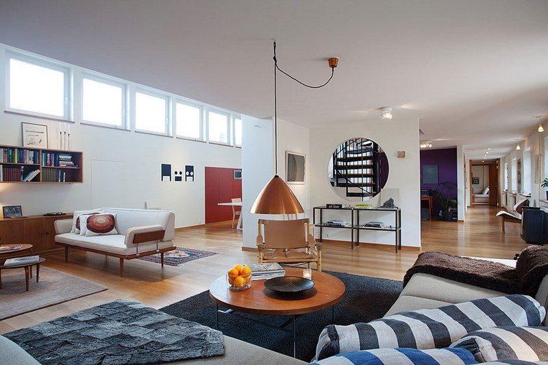 decoracion salones alfombra negra amplio ideas