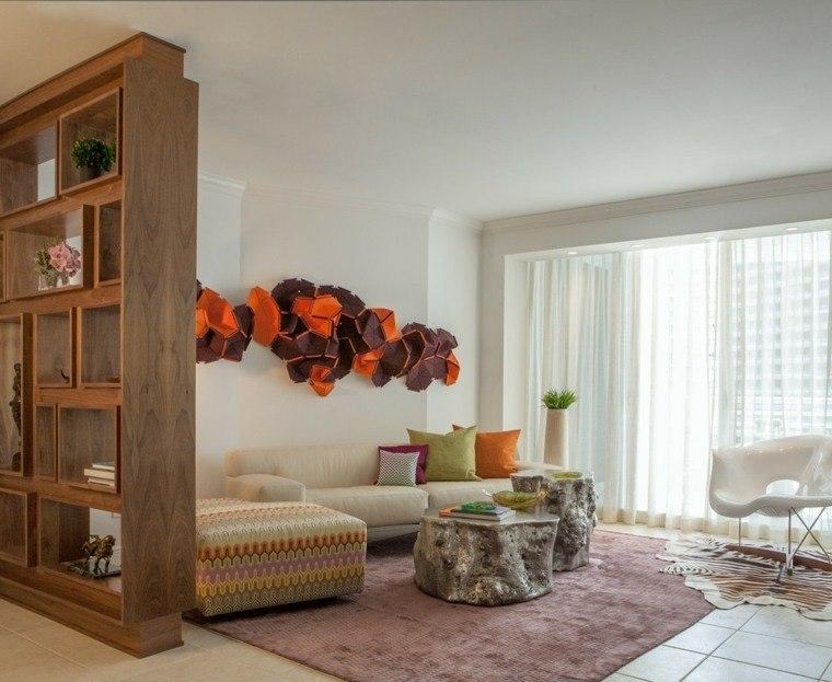 decoracion salones contemporaneo cojines colores ideas