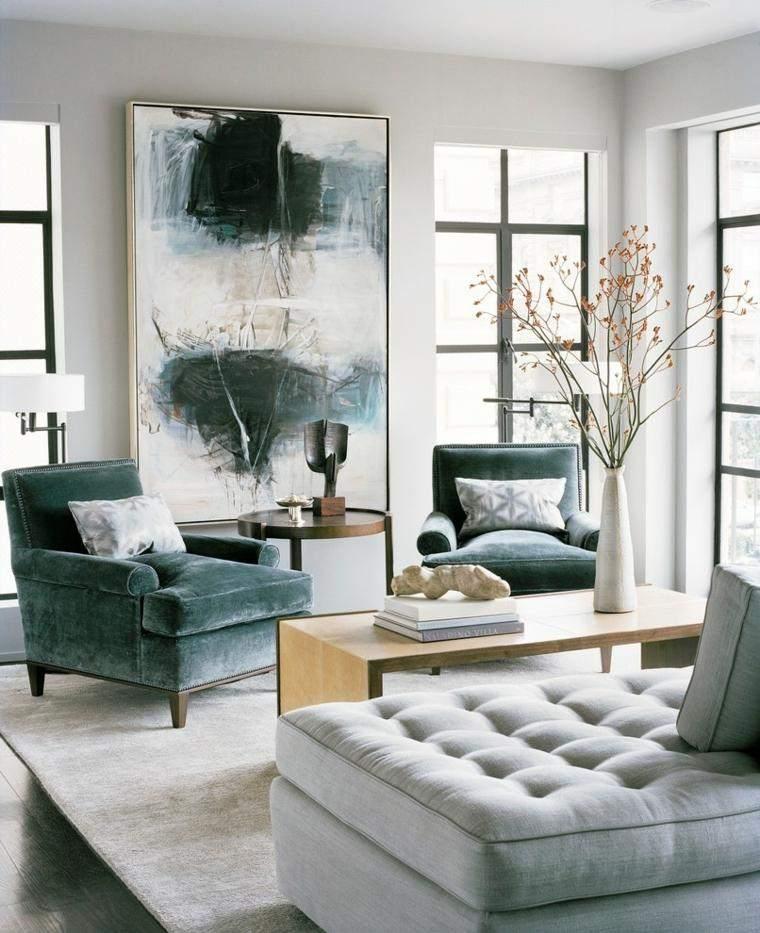 decoracion salones interessante muebles terciopelo ideas