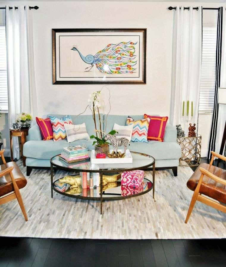 decoración salones modernos elegante colores ideas