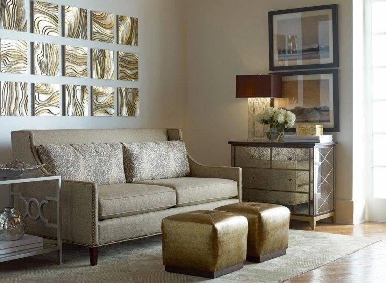 decoracin salones modernos elementos oro ideas
