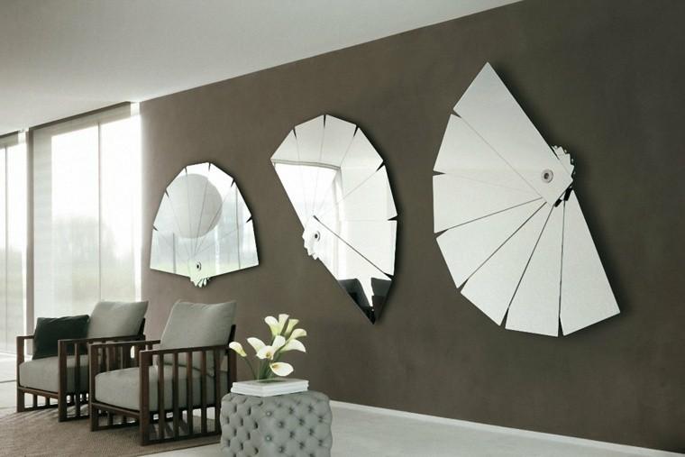decoracion salones modernos espejos preciosos ideas with espejos bao modernos