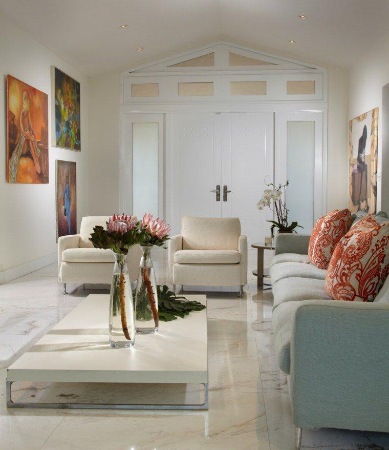 decoracion salones modernos jarrones cristal ideas