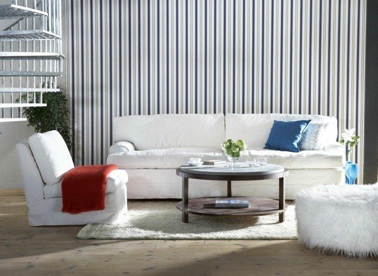 decoracion salones modernos taburete blanco pelos ideas