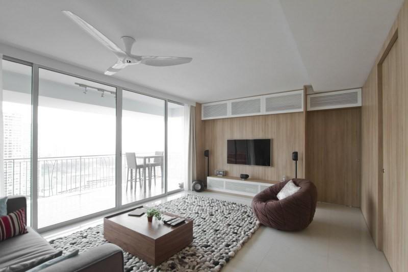 decoracion salones paredes madera loft ideas