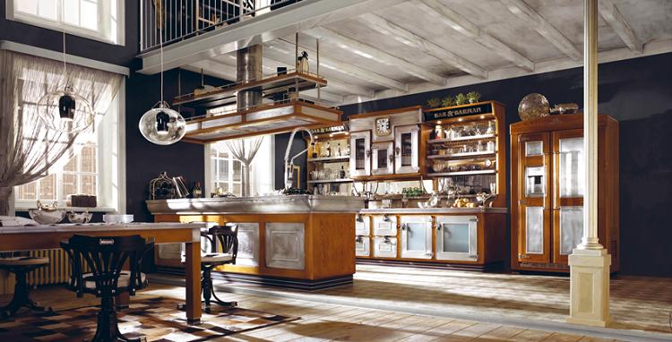 decoracion estilo vintage amplia cocina madera ideas