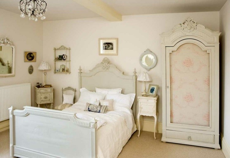 decoracion vintage muebles blancos dormitorio ideas