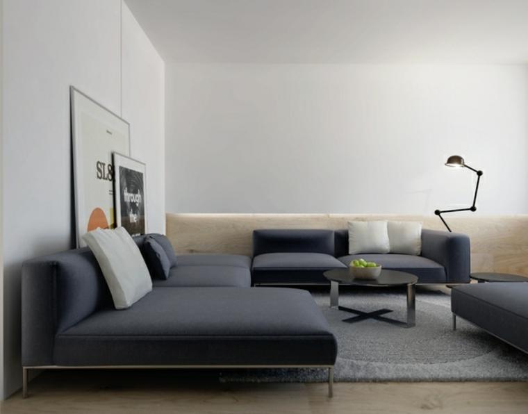decoraciones de salones sillas grises colores