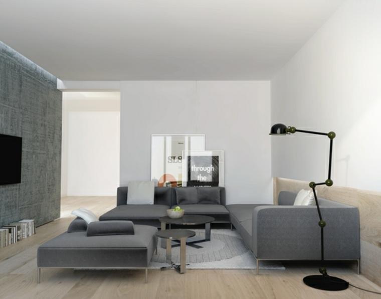 decoraciones de salones sillas negro lamparas