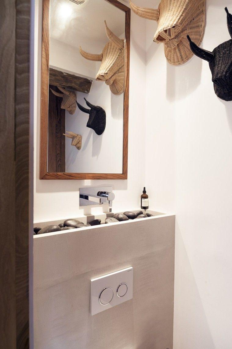 decorado cocina pequeña diseño espejo enmarcado