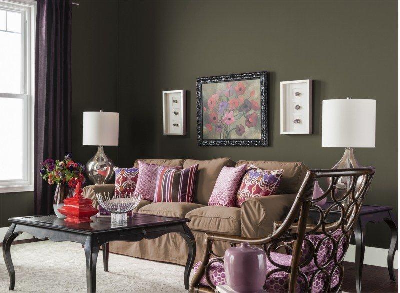 decorar pared colores salon negro ideas