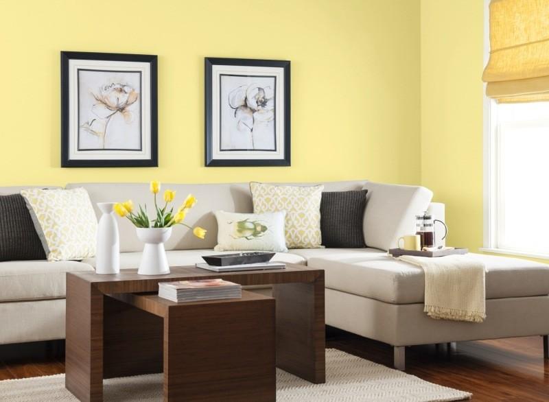 decorar pared colores salon neutral ideas