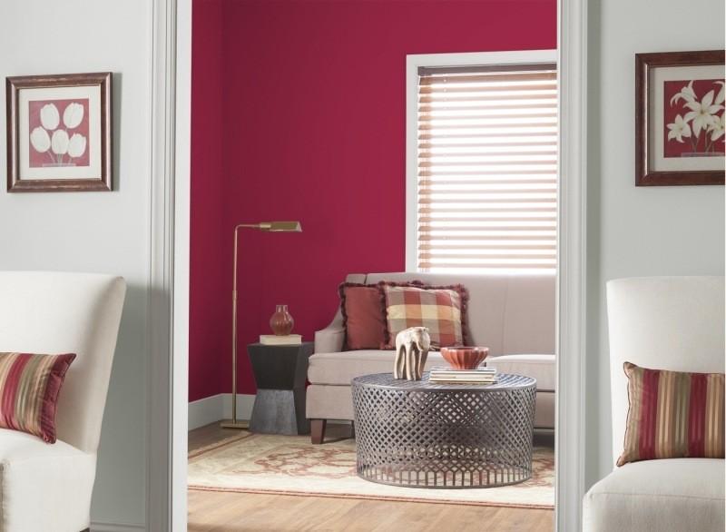 decorar pared colores salon rojo ideas