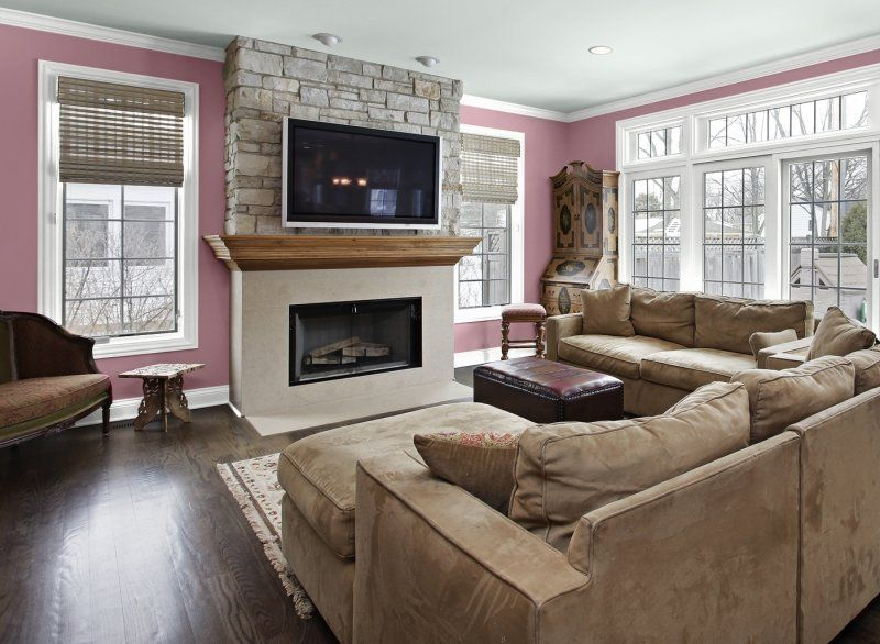 decorar pared colores salon rosa ideas