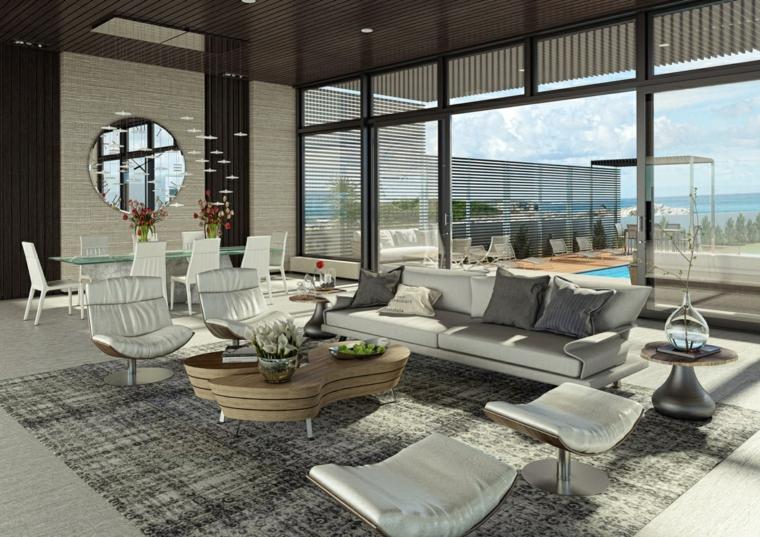 Decorar salon con acentos modernos soluciones coloridas - Salones con alfombras ...