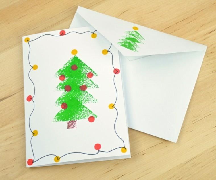 decorar tarjetas de navidad caseras
