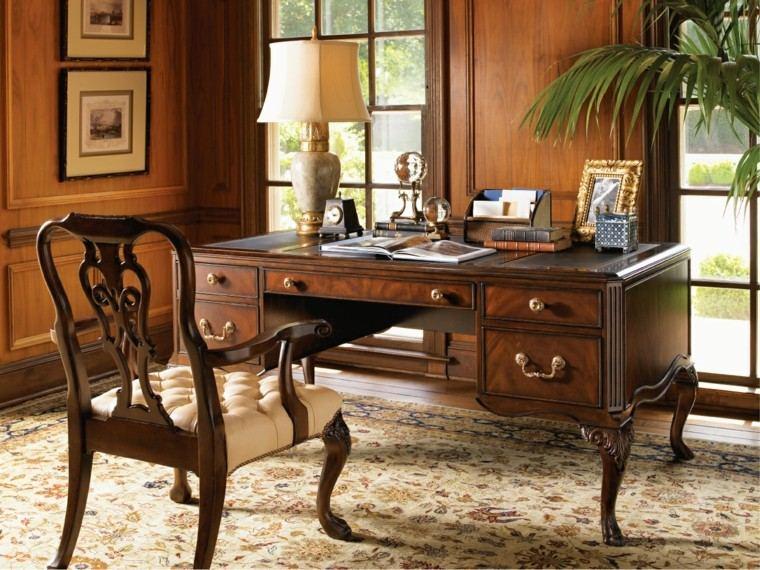 decoración despacho clasico estilo vintage