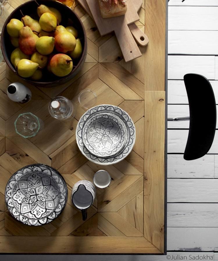 diferente madera estilo variantes platos futas