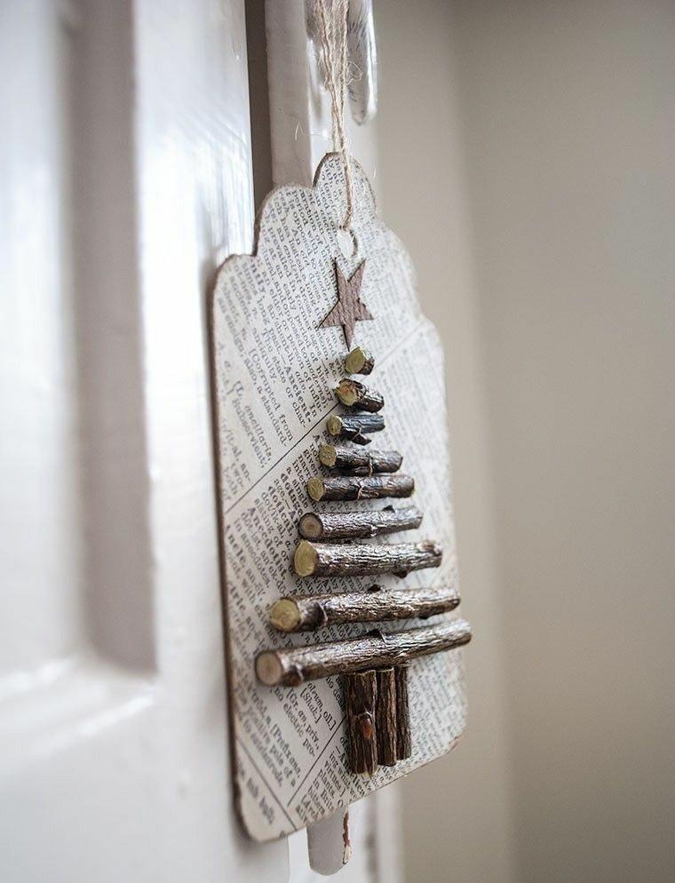 diseño abeto navideño ramas pino