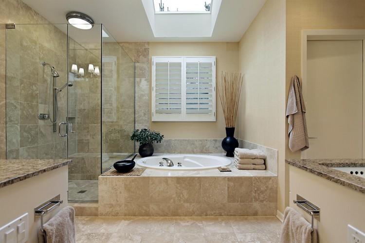 diseño baño lampara techo ducha