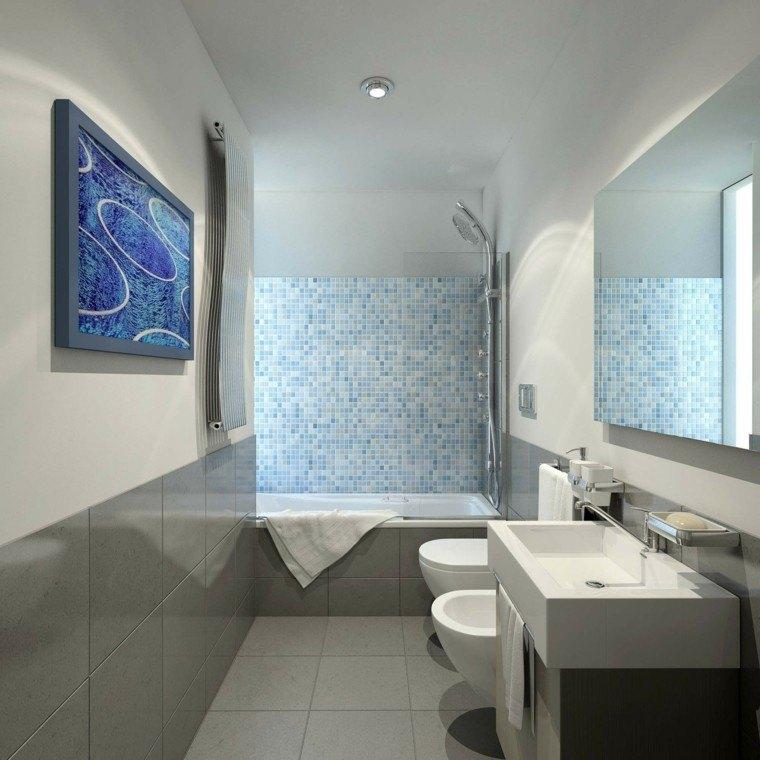 diseño bañó azul gris