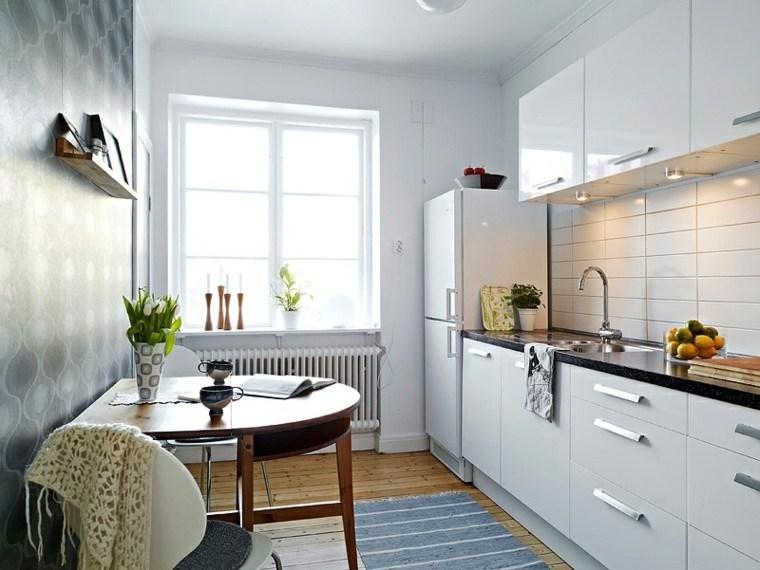Cocina pequeña con mucho estilo - 38 ideas