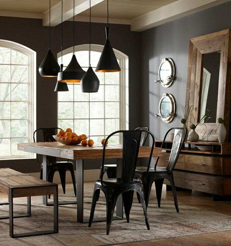 Muebles de comedor de colores oscuros - 50 ideas