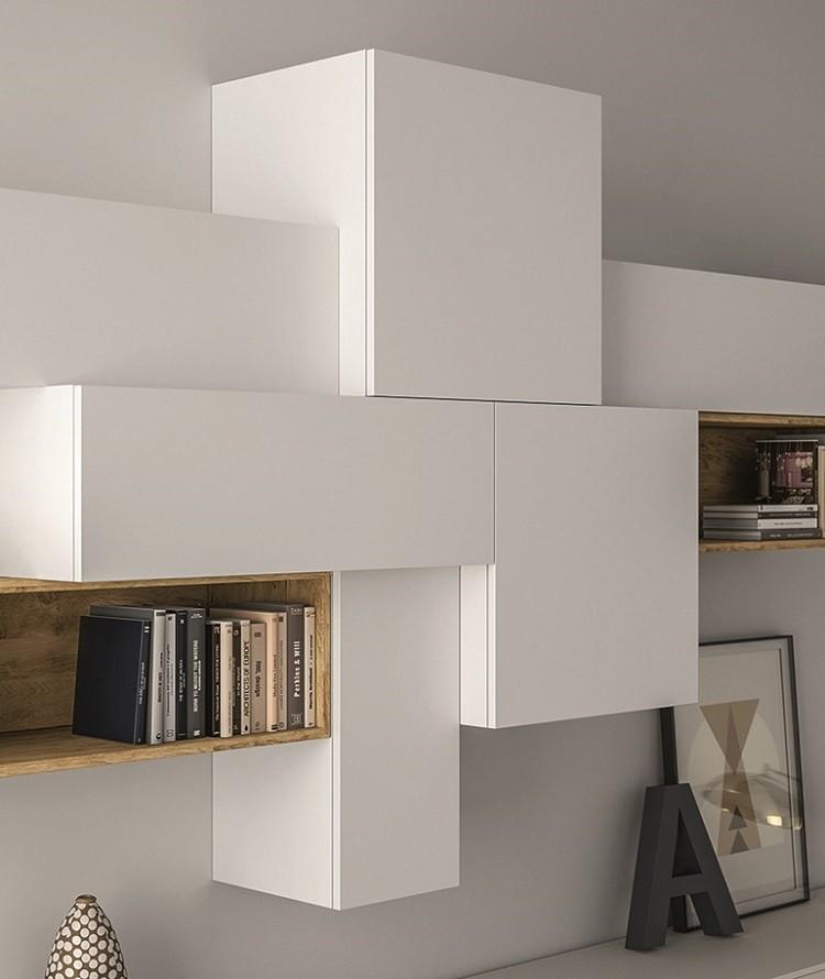 diseño muebles modernos salon blancos
