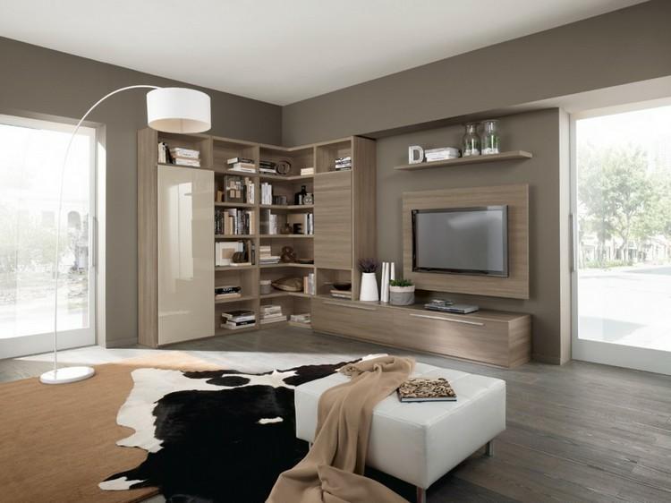 Estanterias modulares para salones modernos 38 ideas - Diseno de salones ...