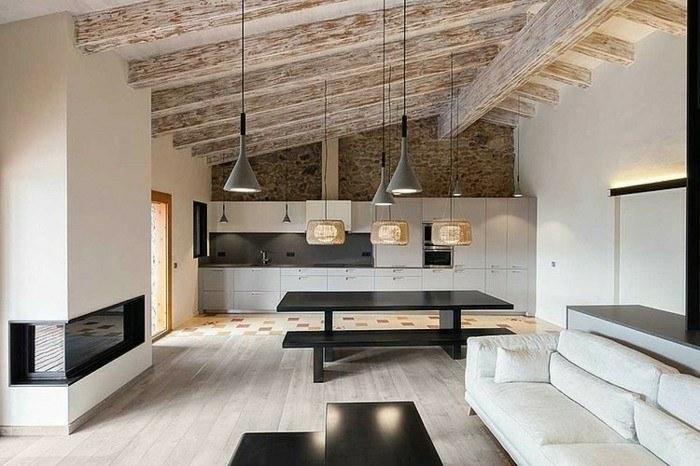 diseño salones deco chimeneas modernas