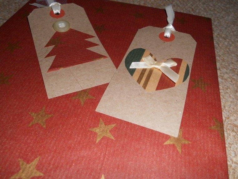 diseño tarjetas navidad regalos papel
