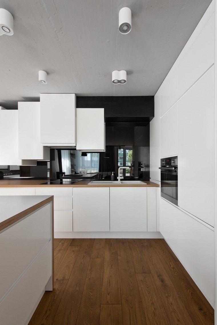 diseo de interiores loft al estilo escandinavo en blanco y negro