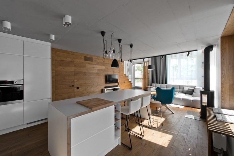 diseño de interiores estilo escandinavo cocina isla ideas