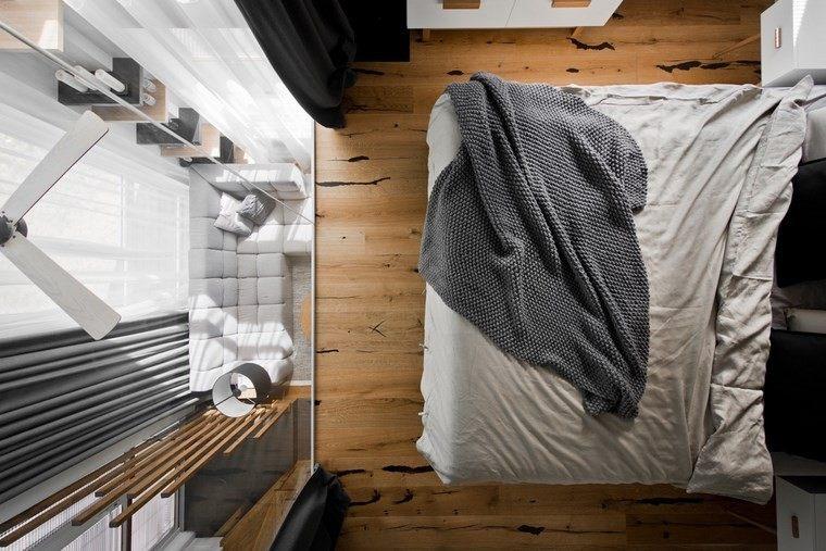 diseño de interiores loft estilo escandinavo dormitorio elegante ideas