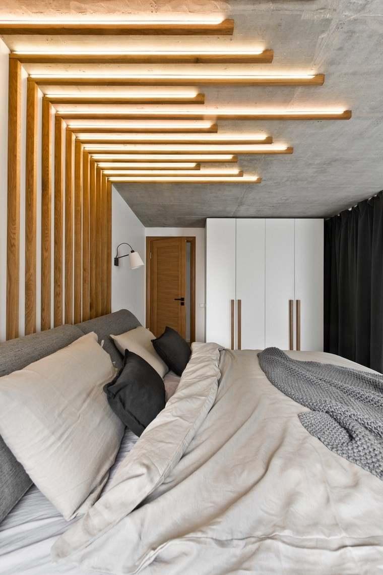 diseño de interiores loft estilo escandinavo dormitorio iluminado ideas