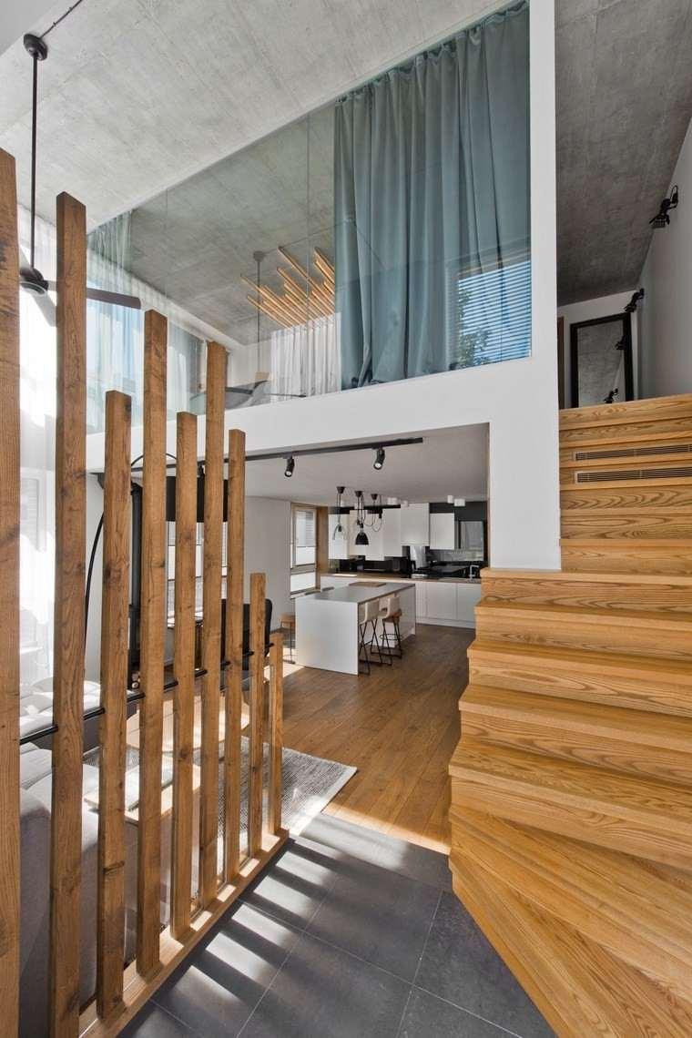Diseño de interiores loft al estilo escandinavo muy moderno