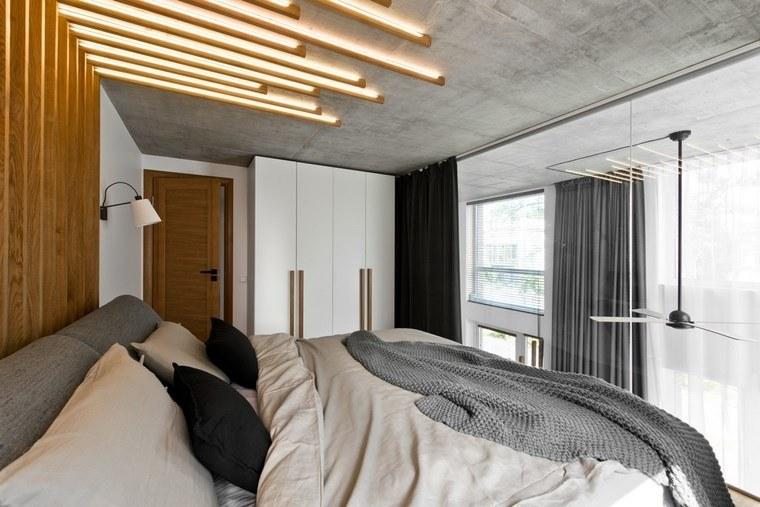 diseño de interiores loft estilo escandinavo dormitorio luminoso ideas