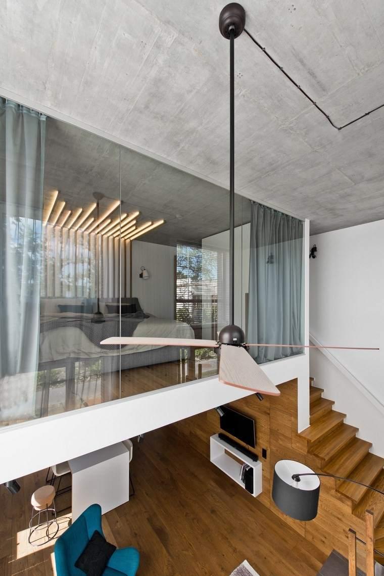 diseño de interiores loft estilo escandinavo dormitorio ventana ideas