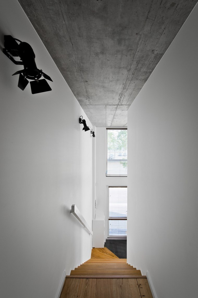 diseño de interiores loft estilo escandinavo madera blanca ideas
