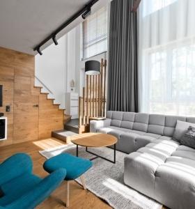 Puerta corredera 50 modelos para un espacio funcional for Diseno escandinavo interiores