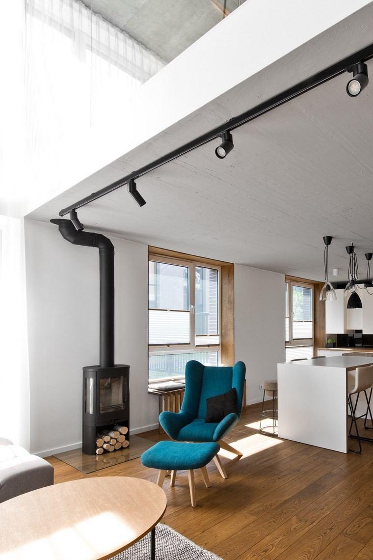 Dise o de interiores loft al estilo escandinavo muy moderno - Diseno de lofts interiores ...