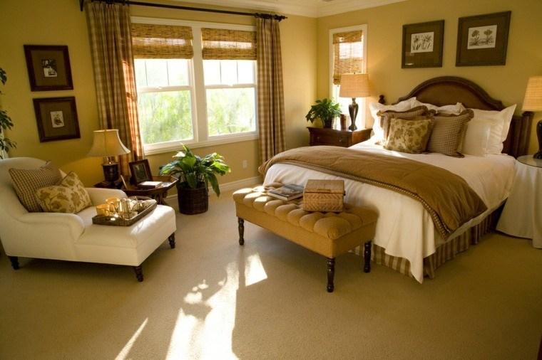 Dormitorio Matrimonio Ideas Modernas Banco Cuero Bonito