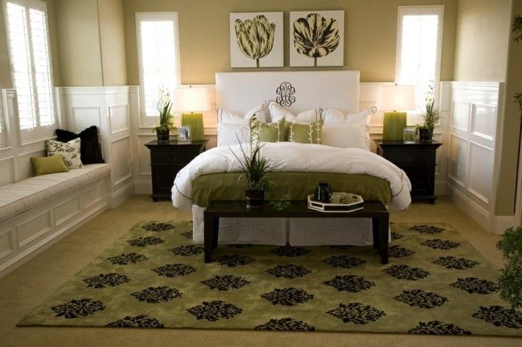 dormitorio matrimonio ideas modernas banco madera bonito