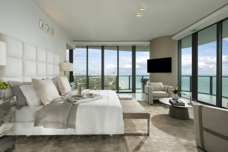 dormitorio matrimonio ideas modernas banco sillones bonito