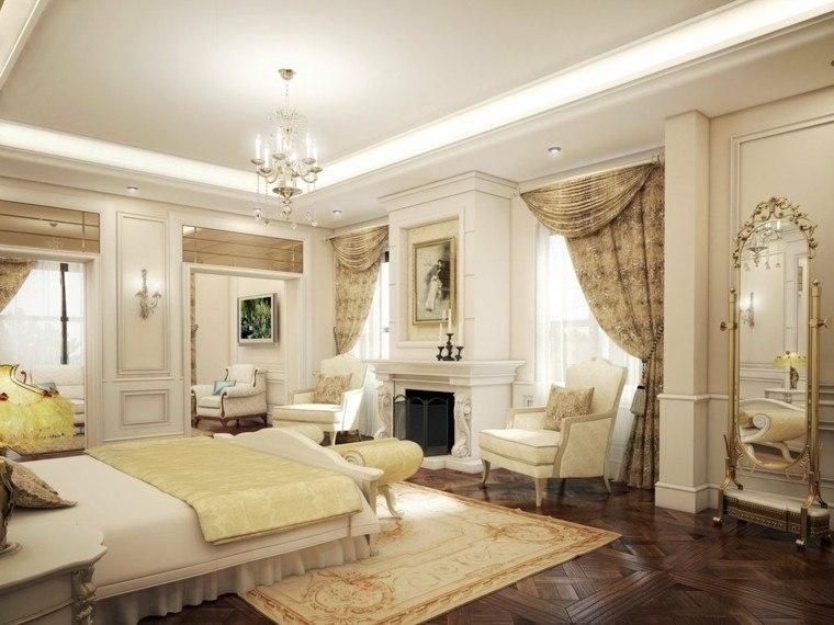 dormitorio matrimonio idea moderna espejo lujosos bonito